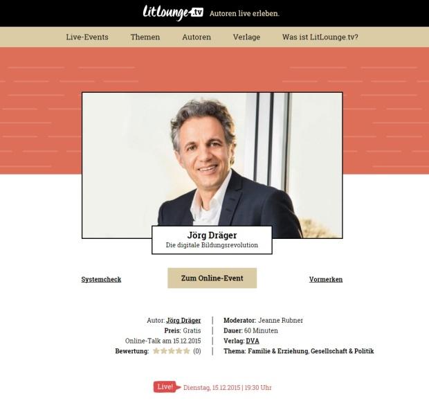 Online-Talk mit Jörg Dräger